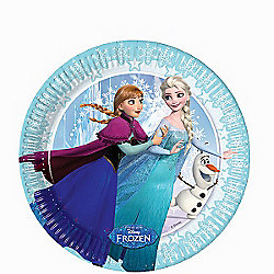 Disney Frozen Ice Skating Plates - 20cm Paper Party Plates