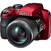 Fujifilm FinePix S8200 (16.2MP) Digital Camera 40x Optical Zoom 3.0 inch LCD Monitor (Red)