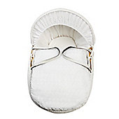 Clair de lune Broderie Anglaise Wicker Moses Basket - White Wicker