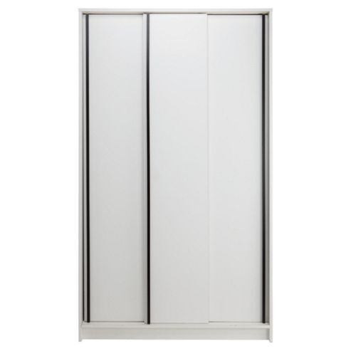Trenton 3 Door Sliding Wardrobe White/Black