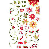Wishbone Stickers (Flowers)