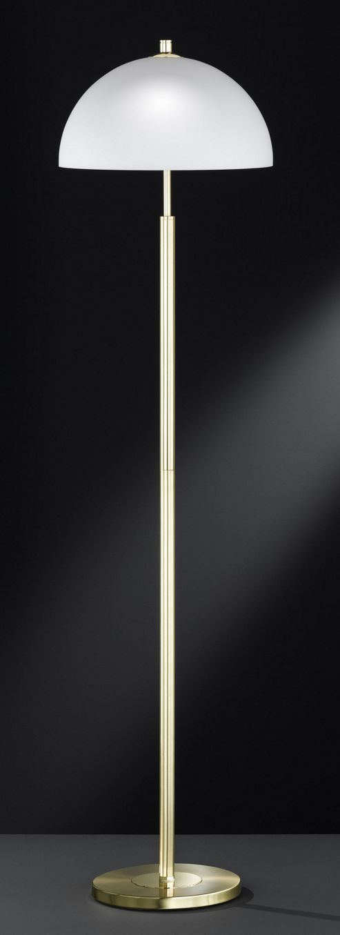 Wofi Georgia 3 Light Floor Lamp - Satin Brass
