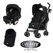 Obaby Zeal 3 in 1 Pram/Travel System and Mosquito Net - Black