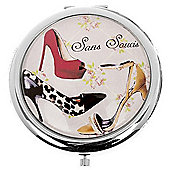 Animal Print Shoe Compact Mirror