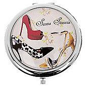 Animal Print Shoe Compact Mirror