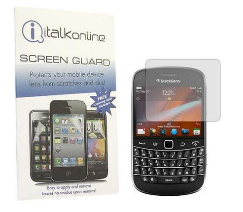 iTALKonline S-Protect LCD Screen Protector and Cleaning Cloth - For BlackBerry 9900 Bold Touch