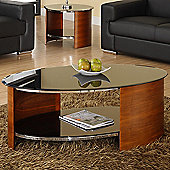 Jual Curve Coffee Table - Walnut