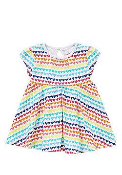 F&F Rainbow Heart Jersey Dress - Multi