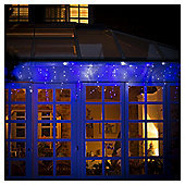 Festive 2000 Low Voltage Super Bright Blue Led Chasing Icicle Lights - Indoor/Outdoor