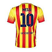 2013-14 Barcelona Away Shirt (Messi 10) - Red