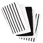Tesco Basics Black Stripe Terry Tea Towel, 5 Pack