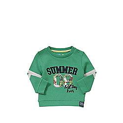 F&F Summer 08 Sweatshirt 09 - 12 months Green