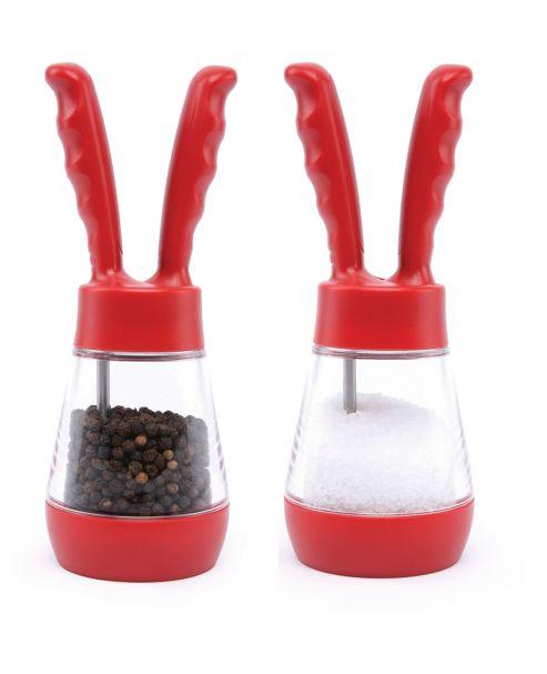 David Mason Design Salt and Pepper Pod Set in Red
