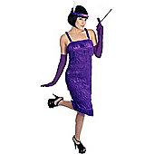 Roaring 20's Purple - Adult Costume Size: 22-24