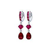 QP Jewellers 7.72ct Cubic Zirconia Droplet Huggie Earrings in 14K White Gold
