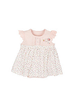 Mothercare Ditsy Floral Romper Onesie Dress Size Up to 1 mnth - 10lbs