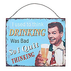 Drinking Metal Wall Sign