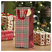 Tartan Christmas Bottle Bag