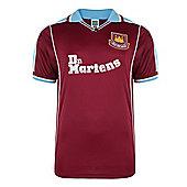 West Ham United 2000 Home Shirt - Claret & Sky blue