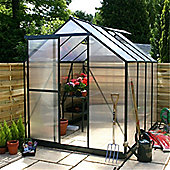 8ft x 6ft Metal 8 x 6 Greenhouse + FREE BASE 8x6