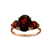 QP Jewellers 4.10ct Garnet Vogue Ring in 14K Rose Gold