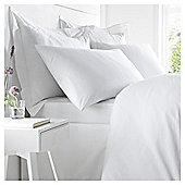 200TC Egyptian Cotton Standard White Pillowcase Pair