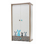 NewJoy Blue Bunny 2 Door Children s Wardrobe