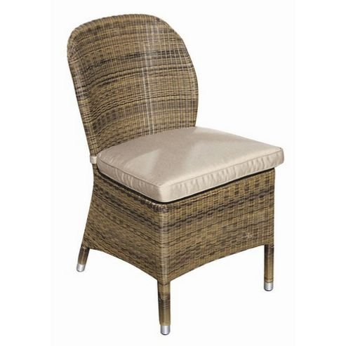 Bridgman Sussex Dining Chair with Seat Cushion in Mocha (Set of 2)