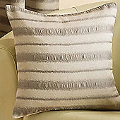 Homescapes Striped Silver and Beige Scatter Cushion
