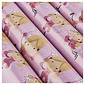 Tesco Chilli Fairy Christmas Wrapping Paper, 10m