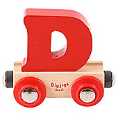Bigjigs Rail Rail Name Letter D (Red)