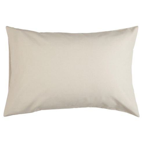 Tesco Pure Cotton Pillowcase Natural