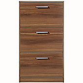 Flip - 3 Flip Door Shoe Storage Cabinet - Walnut