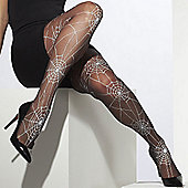 Adult Tights - Spiderwebbed Black & White - Size 10-14