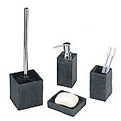 Wenko Slate Rock Bathroom Accessory Set (4 Parts)