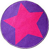 Circular Star Mat - Pink and Purple 67 x 60 cm