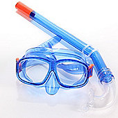 Divetech Junior Wave Swimming Mask & Snorkel Diving Holiday Fun - Blue