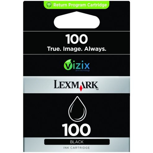 Lexmark 100 Black Return Program Ink Cartridge
