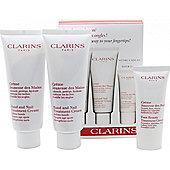 Clarins Jeunesse Des Mains Gift Set 2 x 100ml Hand and Nail Treatment Cream + 30ml Foot Cream
