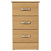 Tenby 3 Drawer Bedside Table, Oak Effect
