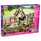 Block Tech Girl Time Pony Stable & Jumps