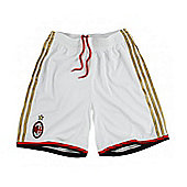 2013-14 AC Milan Adidas Home Football Shorts - White