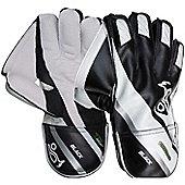Kookaburra Black Cricket Wicket Keeping Keeper Gloves - Youth