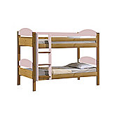 Maximus Bunk Bed 3ft Antique With Pink Details