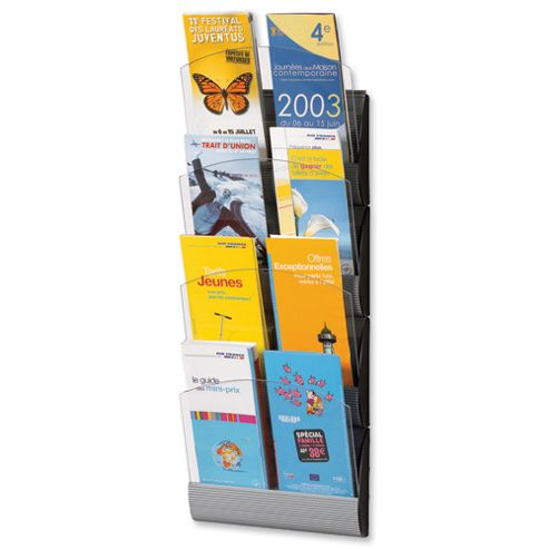 Fast Paper Maxi System Wall Display 4 x A5 or 8 x One-third A4 Pockets W250xD85xH670mm Ref 4065X4.35