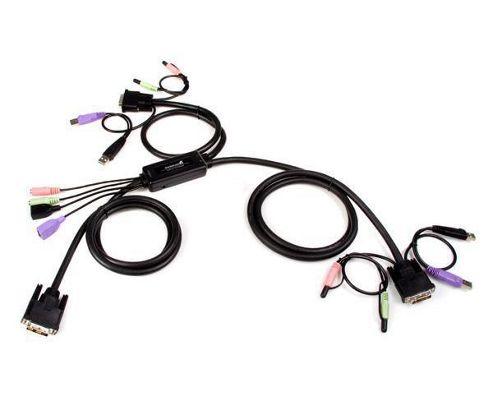 StarTech 2 Port USB DVI Cable KVM Switch with Audio