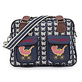 Pink Lining - Mama Et Bebe Changing Bag - CREAM BUTTERFLIES ON NAVY