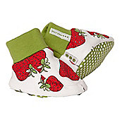 Strawberry print booties - Red