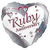 Ruby Anniversary 18' Foil Balloon (each)