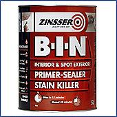 Zinsser B-I-N Primer Sealer - Stain Killer Paint - 5 LITRE